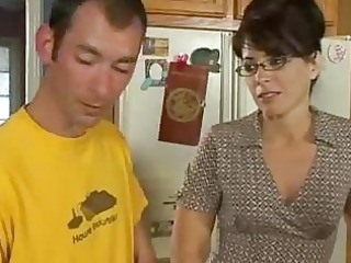 kitchen sex for horny mother i
