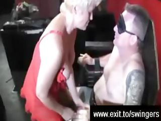 swinger suprise for golden-haired mommy tracey