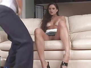 breasty lesbo milfs go wild for thong on sex-toy