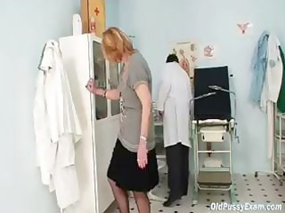 redhead granny gets her slit stretched out whilst