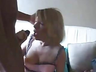 indecent grandma receives ghetto darksome rod