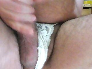 masturbating wearing wife pants (bragas de mi