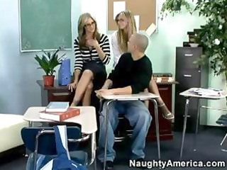 super-hot milfs give college lad a real amazing