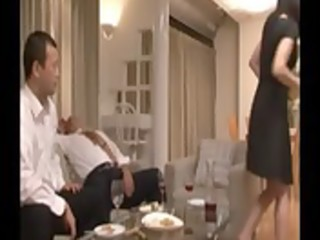 oriental older makes out with her drunk husbands