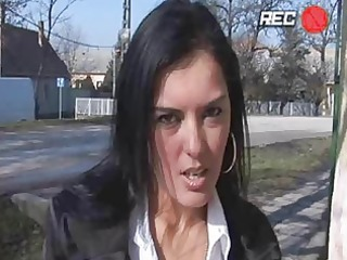 enormous chested brunette hair momma gets drilled