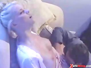 golden-haired exotic white wife