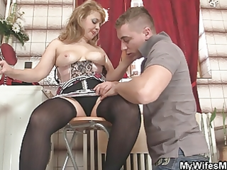 she is rides my pounder and wife comes in
