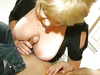 obese aged drilled by oriental guy