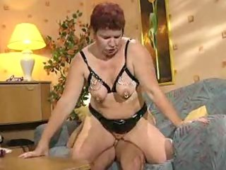 german pierced mature getting drilled