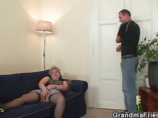 nasty granny takes ramrods