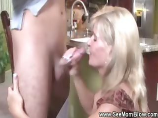 golden-haired older puts her face hole all over