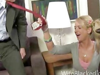 cuckold oral pleasure wife sucks giant dark weenie