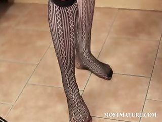 big beautiful woman aged teases her sexy assets