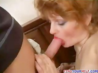 redhead naughty aged hooker and juvenile lad