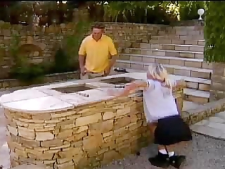 blonde legal age teenager anal outdoor with aged