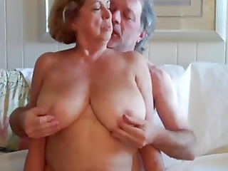 large boobed aged woman rides her husband 6