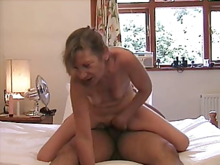 hawt older lady on top - cunt and anal