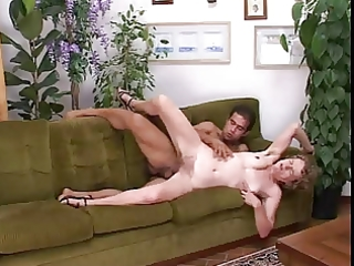 skinny granny likes it in all her holes !