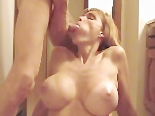 sexy golden-haired large tit mother i gives
