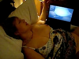 wife with large darksome fake penis up her 6