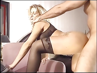 breasty blond mother i fucking in black nylons