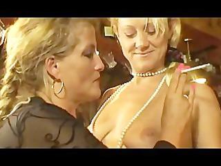 smoking milfs at three-some lesbo action.
