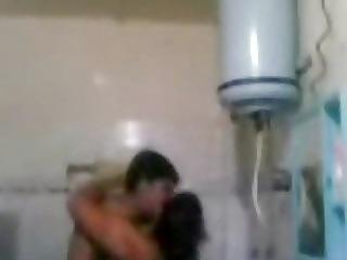 indian older couple fucking very hard in washroom