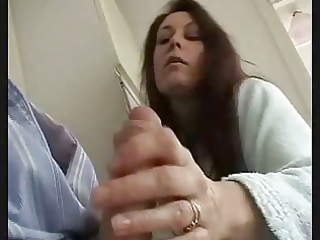 british wife gives fleshly jerk off and engulf to