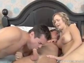 Husband Has To Suck Wifes Lover cuckold