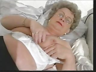 chunky old granny undresses and plays another time
