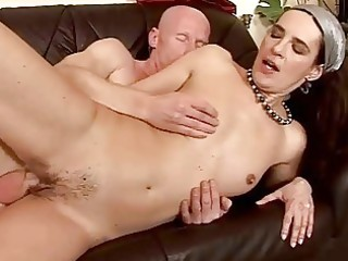 granny giving oral sex and getting drilled hard