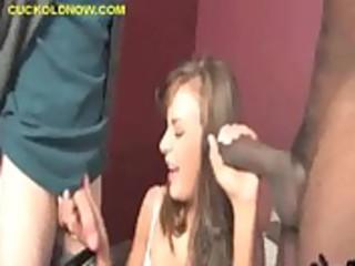 cuckold wife engulfing black meat