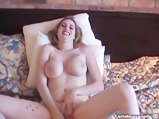 wifey breasty large naturals homemade masturbation