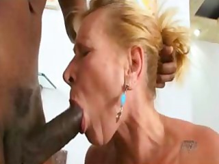brazilian mature eats black rod and then acquires