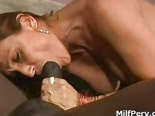lewd milf gives unfathomable wet blowjob to giant