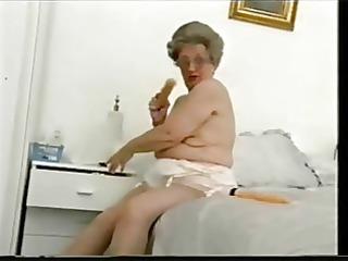 old granny still can to have fun. non-professional