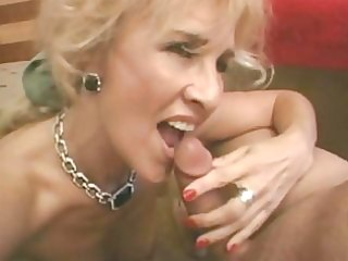 aged golden-haired receives anal
