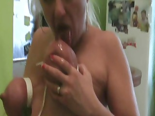 my floozy wife playing with a bottle