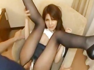 mihono tsukimotomature japanese wife on the chair