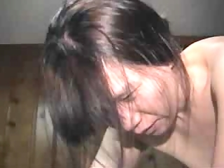 sexy oriental wife gets a creampie and hubby