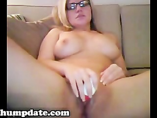 concupiscent milf with fine love bubbles toying