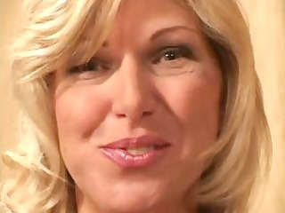 golden-haired ex-wife strips down and sucks and