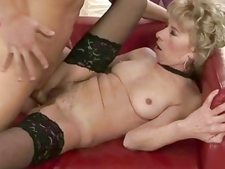 naughty granny fucking with youthful man