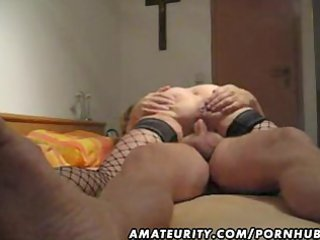 mature and breasty non-professional wife oral