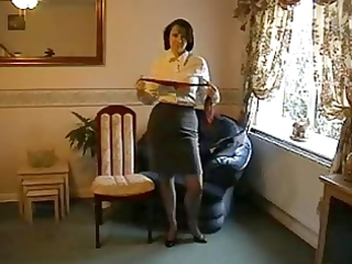 teasing milf in nylon nylons and heels