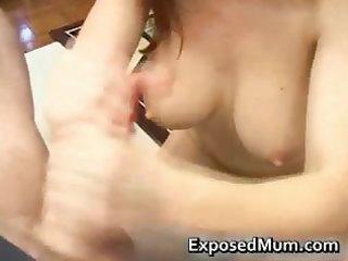 milf redhead gulping sexy cream part0
