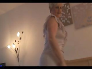 older bulky blond granny thinks shes sexy and