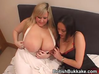 a aged woman and one more with huge mounds do