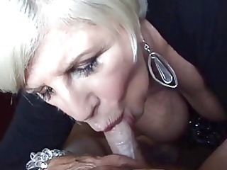 golden-haired granny blow job and breast relief