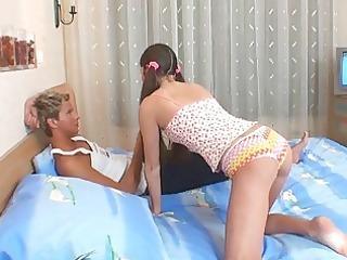 breasty legal age teenager serves older schlong